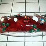 recette bûche aux fruits rouges et chocolat blanc