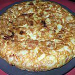 recette Tortilla de Patatas con Cebollas a la Española...( Omelette de P.d.terre  Espagnole aux oignons)... Délicieux...