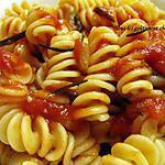 recette Pâtes à la sauce au romarin