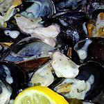 recette Moules mariniére à la créme et citron