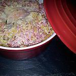 Oeuf cocotte au coquillette et jambon