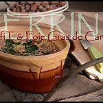 recette ** Terrine de confit de canard au foie Gras à la gelée au vin blanc ( sauterne) & au piment d'Espelette **