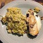 recette risotto au poireau, citron et parmesan et lotte rotie sauce citron