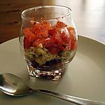 recette Verrine de tomates et tapenade verte.