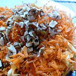 recette Emincé de carottes aux pommes et noix