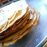 recette Crêpes à la farine de cacahuètes