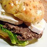 recette French burgers au chèvre