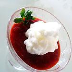 recette Oeufs en neige sur soupe de fraises
