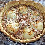 recette Tarte aux poires à la crème de pain d'épices
