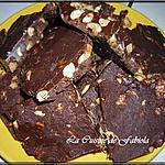 recette BARRE DE CHOCOLAT AUX CACAHUETE SALE
