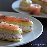 recette Eclairs salés au saumon