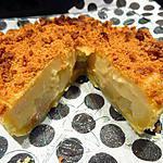 recette Tarte aux poires-crème de marron-spéculoos