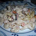 recette Gratin de pâte au fruits de mer