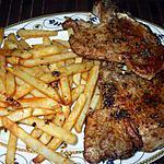 recette Chuletas de cerdo con salsa de oregano....( Côtes de Porc moëlleuses Sauce  à  l'Origan. .)...Pour femmes pressées...