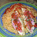 recette filets de rougets sur son lit de spaghettis
