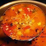 recette Shorba frik (soupe à l'agneau et au blé concassé)