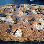 recette gateau poire-chocolat et amandes