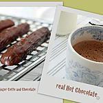 recette ** sablé au café glacage chocolat et vrai chocolat chaud selon trish Deseine**