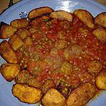 recette petits pois aux boulettes de viande en sauce