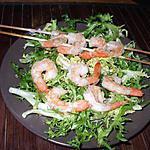 recette Brochettes de crevettes..  à la Thaïlandaise....