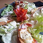 recette Salade gourmande au chorizo et chévre avec sa sauce au chévre chaud et  thym