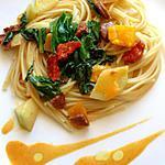 recette Spaghetti végétariens au potiron et chou-rave