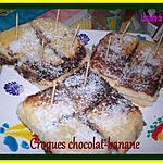 recette croques chocolat -banane