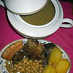 """recette """" Cocido con patatas y garbanzos.....(...Pot au feu...)..."""