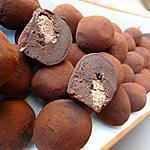 recette Truffes au chocolat et coeur croquant pralin