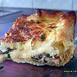 tarte au jambon et aux courgettes poêlées