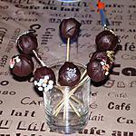recette Cake pops au chocolat noir