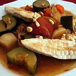recette Coucous de légumes et poulet à l'oriental