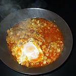recette Arroz caldoz....con Magro y huevos...( Cazolette de riz ..avec .Rouelle de porc -(  ou agneau... etc......) et oeufs..pochés )