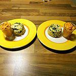recette mousse au poivron et ses petits flans de courgette
