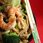 recette Nouilles aux crevettes à la chinoise