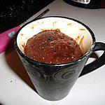 Mug de brownies fondant au micro ondes (une merveille)