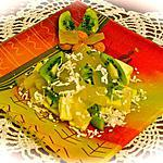 salade : recette SALADE DE FRUITS A LA GELEE D'ORANGE .