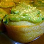 recette Muffins salé de mais, nappage guacamole