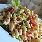 recette Salade de macaronis aux légumes et au cheddar