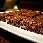 recette Brownies chocolat noir et noix de Christophe Felder...