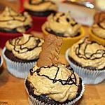 Cupcakes chocolat au glaçage spéculoos
