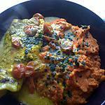 recette Cabillaud safrané en papillotte et purée de carottes
