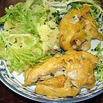 recette Paupiettes de blancs de poulet aux pommes