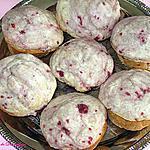 recette Muffins givrés aux framboises
