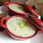 recette Soupe au chou-fleur et au Cheddar