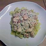 recette tagliatelles au saumon