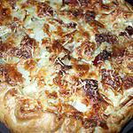 "recette Pastel de Patatas con Jamon Serrano y queso de cabra ""... ( Gâteau de P.D.Terre au jambon serrano et fromage de chèvre.)..."