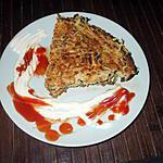"""recette """" Parmentier de P.D.Terre.. courgettes... et Chorizo..."""