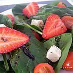 recette salade de pousses d'épinards aux fraises
