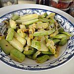 recette Courgettes sautées à l'ail (plat chinois)